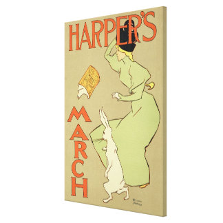 Reproduction of a poster advertising 'Harper's Mag Canvas Print