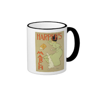 Reproduction of a poster advertising 'Harper's Mag Ringer Mug
