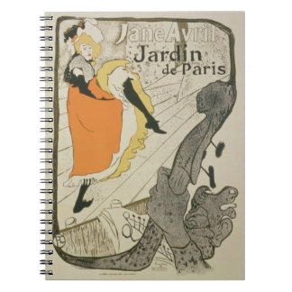 Reproduction of a poster advertising 'Jane Avril' Spiral Notebooks