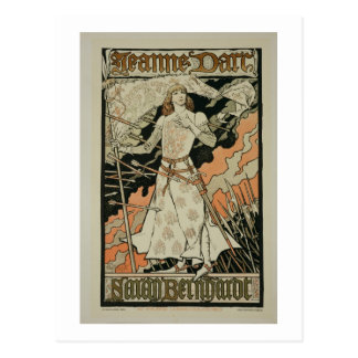 Reproduction of a poster advertising 'Joan of Arc' Postcard