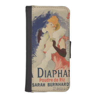 Reproduction of a poster advertising 'La Diaphane' Phone Wallet Cases