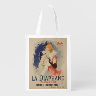 Reproduction of a poster advertising 'La Diaphane' Reusable Grocery Bag