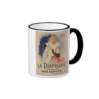 Reproduction of a poster advertising 'La Diaphane' Ringer Mug