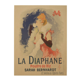 Reproduction of a poster advertising 'La Diaphane' Wood Prints