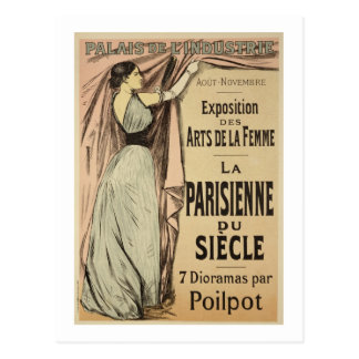 Reproduction of a poster advertising 'La Parisienn Postcard