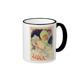 Reproduction of a poster advertising 'Lidia', at t Ringer Mug