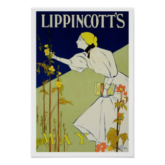 Reproduction of a poster advertising 'Lippincott's