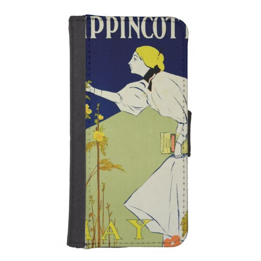 Reproduction of a poster advertising 'Lippincott's iPhone 5 Wallet Case