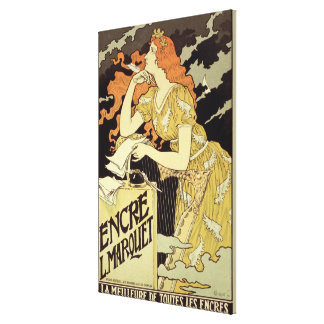 Reproduction of a poster advertising 'Marquet Ink' Canvas Print