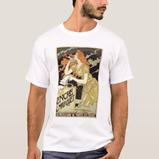 Reproduction of a poster advertising 'Marquet Ink' T-Shirt