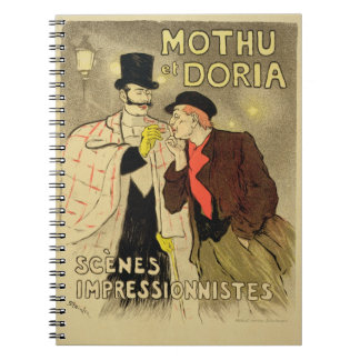 Reproduction of a poster advertising 'Mothu and Do Notebooks