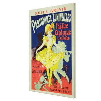 Reproduction of a Poster Advertising 'Pantomimes L Canvas Print