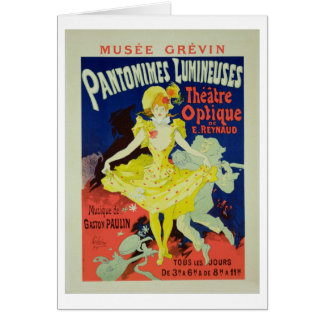 Reproduction of a Poster Advertising 'Pantomimes L Card