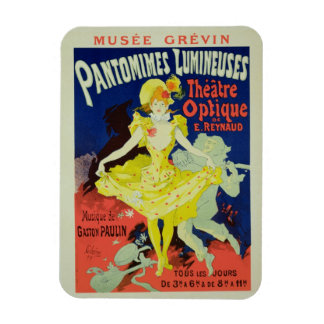 Reproduction of a Poster Advertising 'Pantomimes L Rectangular Photo Magnet