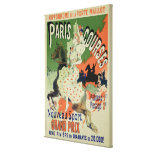 Reproduction of a poster advertising 'Paris Course Canvas Print