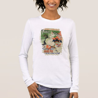 Reproduction of a poster advertising 'Paris Course Long Sleeve T-Shirt