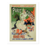 Reproduction of a poster advertising 'Paris Course Postcard