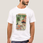 Reproduction of a poster advertising 'Paris Course T-Shirt