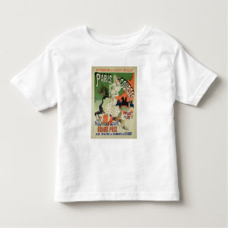 Reproduction of a poster advertising 'Paris Course Toddler T-Shirt