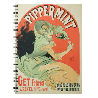 Reproduction of a poster advertising 'Pippermint', Spiral Notebooks