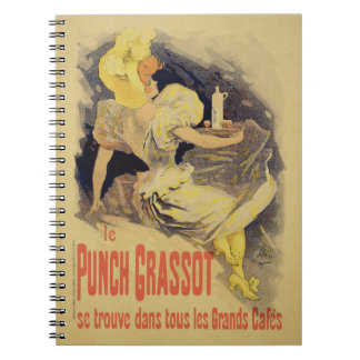 Reproduction of a poster advertising 'Punch Grasso Spiral Notebook