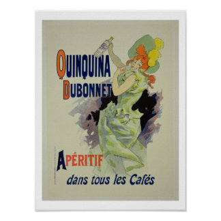 Reproduction of a poster advertising 'Quinquina Du