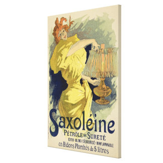 Reproduction of a poster advertising 'Saxoleine', Canvas Print