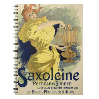 Reproduction of a poster advertising 'Saxoleine', Spiral Note Book