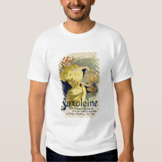 Reproduction of a poster advertising 'Saxoleine', T Shirts