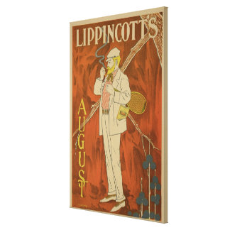 Reproduction of a poster advertising the August Is Canvas Print