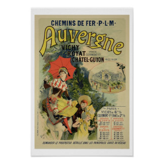 Reproduction of a poster advertising the 'Auvergne