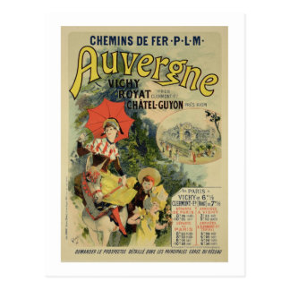 Reproduction of a poster advertising the 'Auvergne Postcard