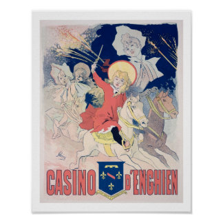 Reproduction of a poster advertising the 'Casino d