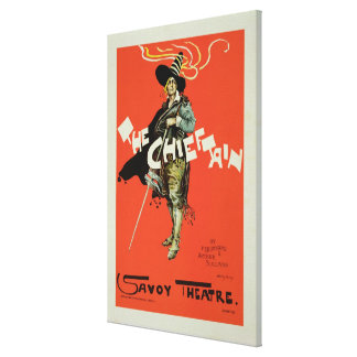 Reproduction of a poster advertising 'The Chieftai Stretched Canvas Prints