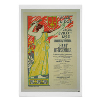 Reproduction of a poster advertising the 'Concours