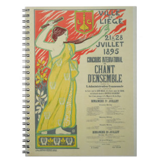 Reproduction of a poster advertising the 'Concours Spiral Notebooks