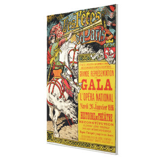 Reproduction of a poster advertising the 'Fetes de Canvas Print