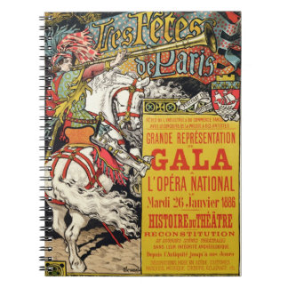 Reproduction of a poster advertising the 'Fetes de Spiral Note Books