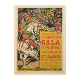 Reproduction of a poster advertising the 'Fetes de Wood Canvases