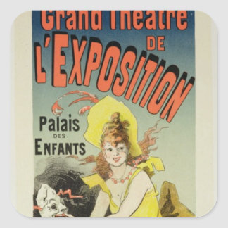 Reproduction of a poster advertising the Grand Th Square Sticker