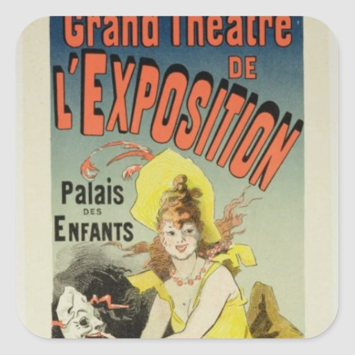 Reproduction of a poster advertising the 'Grand Th Square Sticker