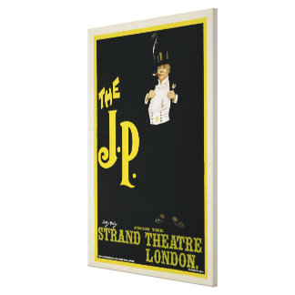 Reproduction of a poster advertising 'The J.P.' at Canvas Print