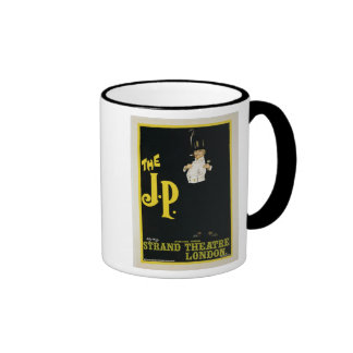 Reproduction of a poster advertising 'The J.P.' at Coffee Mug