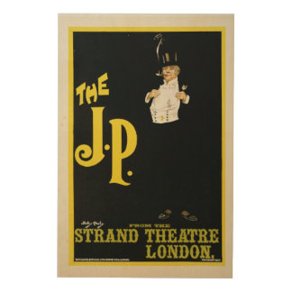 Reproduction of a poster advertising 'The J.P.' at Wood Print