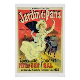 Reproduction of a Poster Advertising the 'Jardin d
