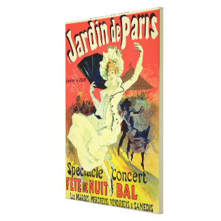 Reproduction of a Poster Advertising the 'Jardin d Canvas Print