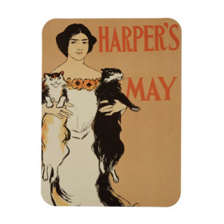 Reproduction of a poster advertising the May Issue Rectangular Photo Magnet