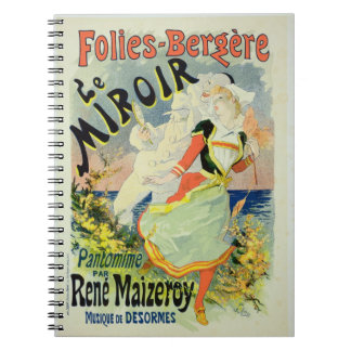 Reproduction of a poster advertising 'The Mirror', Spiral Note Book