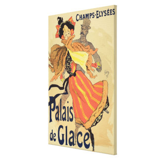 Reproduction of a poster advertising the 'Palais d Canvas Print