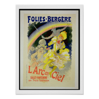 Reproduction of a poster advertising 'The Rainbow'